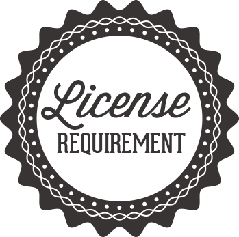 License Requirement Badge