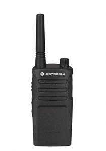 industrial black two-way radio used for outdoors