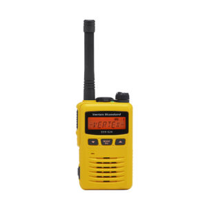 yellow radio used by foreman and supervisors
