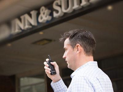 man holding seamless communication solution